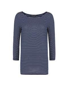 Beaded striped t-shirt