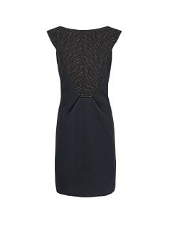 Jacquard panel structured dress