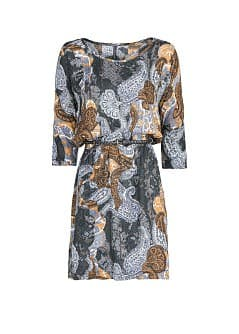 Paisley print flowy dress