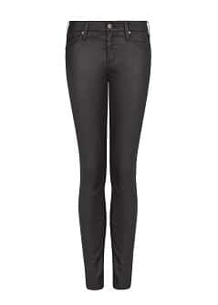 Super slim-fit black Belle jeans