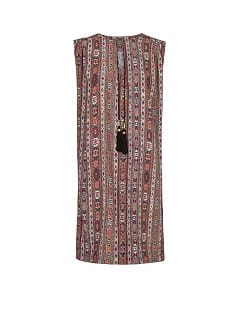 Ethnic print shift dress