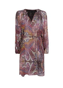 Paisley print lightweight dress