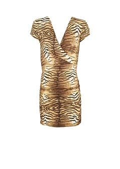 ABITO INCROCIATO ANIMAL PRINT