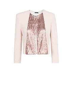 SEQUINED PLACKET JACKET