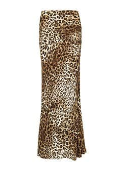 Leopard print long skirt