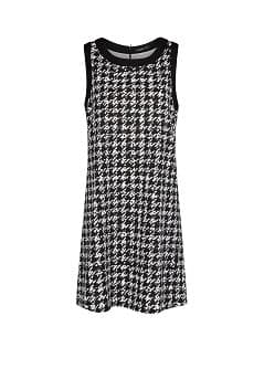 Houndstooth shift dress