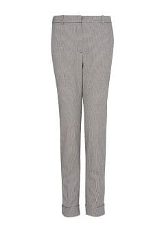 Houndstooth print suit trousers