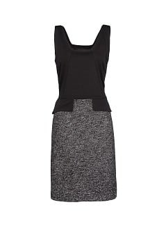 Wool cotton-blend combi dress