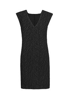 Jacquard structured dress