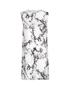 Marble print chiffon dress