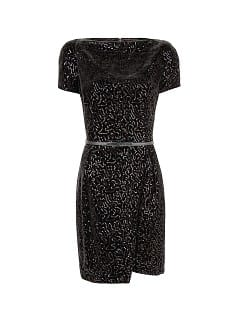 Robe velours sequins