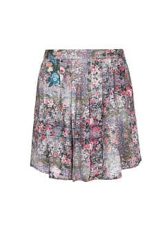 Scarf print lightweight skirt