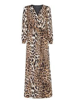 Leopard print long dress