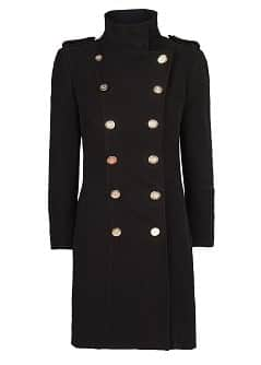 Manteau long double boutonnage