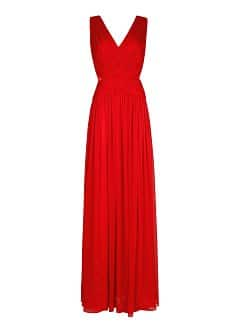 Ruched details gown