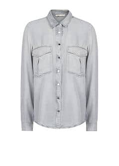 Grey wash tencel shirt