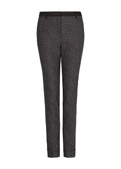 Jacquard tapered trousers