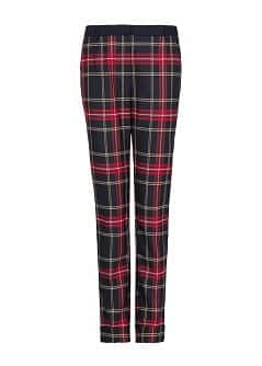 Plaid tapered trousers