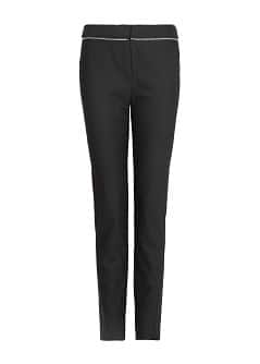 Zip detail tapered trousers