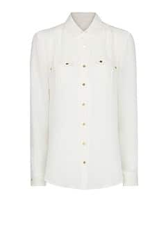 Pockets chiffon shirt
