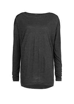 Satin back angora-blend t-shirt