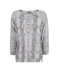 Textured snakeskin pattern sweatshirt