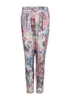 Tapestry Floral Print Flowy Trousers