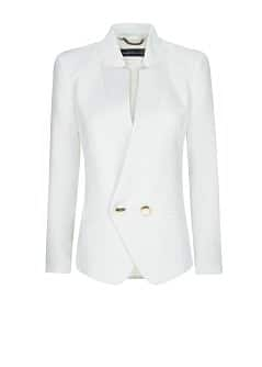 CREPÉ DOUBLE-BREASTED BLAZER