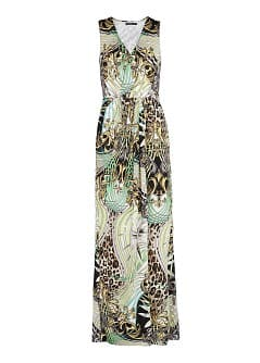 Scarf print long dress