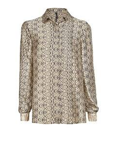 Snake print satin-finish shirt