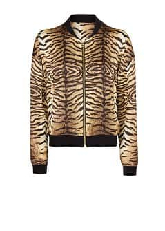 ANIMAL PRINT BOMBER JACKET