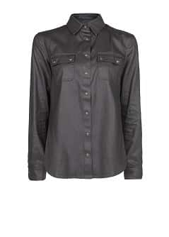 Coated black shirt