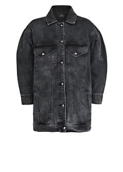 Black oversize denim jacket