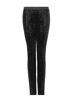 Velvet sequined leggings