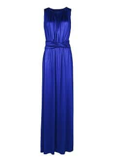 DRAPED DETAIL GOWN