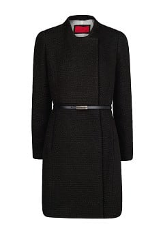 Bouclé long coat