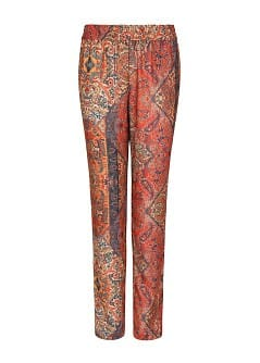 Ethnic print flowy trousers