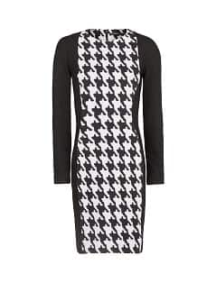 Pencil houndstooth dress