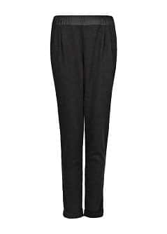 Wool-blend flowy trousers