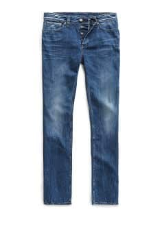 Straight-fit medium wash Robert jeans