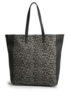 Carteira shopper estampado leopardo