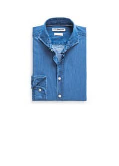 Chemise slim-fit denim