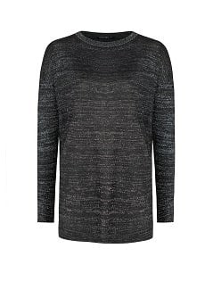 Loose-fit metallic sweater