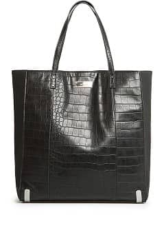 CROC EFFECT SHOPPER BAG