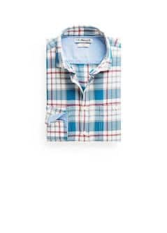 Slim-fit two-pocket check shirt
