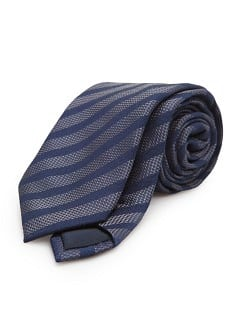 Silk wool-blend striped tie