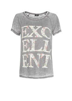 Typographic print cotton-blend t-shirt