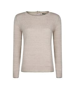 Metallic detailing sweater