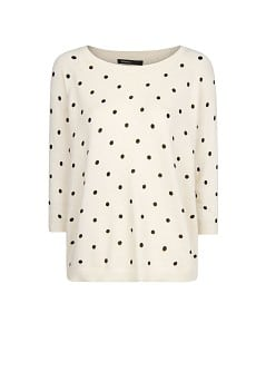 Polka-dot angora sweater
