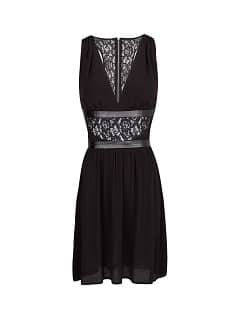 Lace appliqué flowy dress